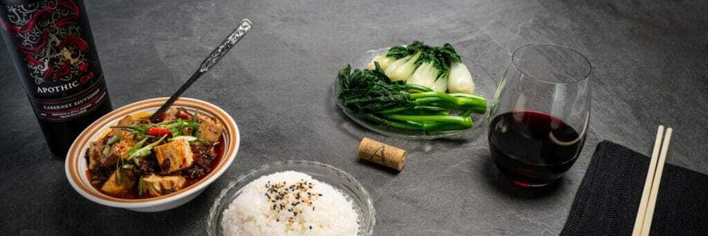 Mapo tofu presentation